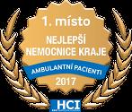 1. místo NEJLEPŠÍ NEMOCNICE KRAJE - Ambulantní pacienti